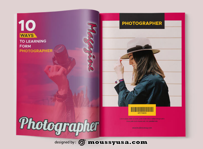 Photographer Magazine Design Ideas
