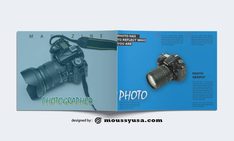 Photographer Magazine templates Sample