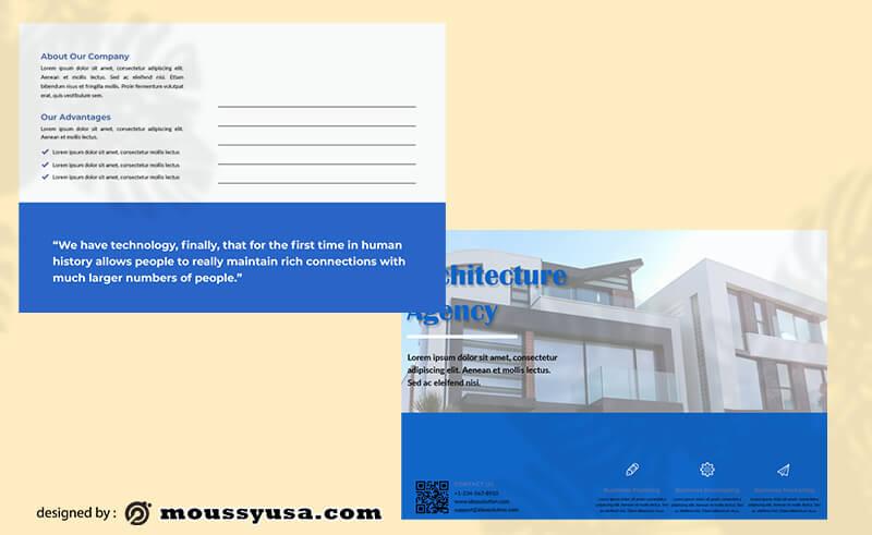 Post card example psd design