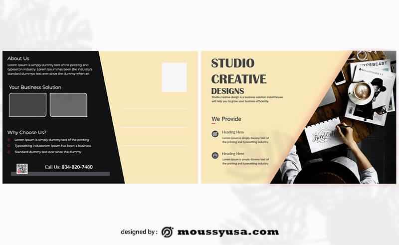 Post card free psd template