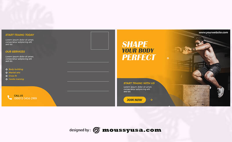 Post card template free psd