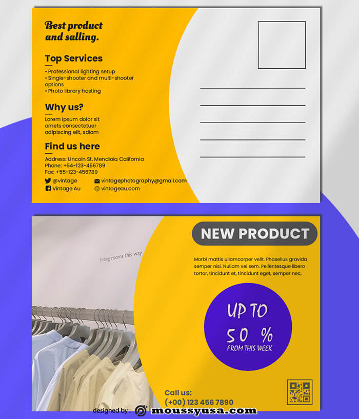 Promotional Postcard templates Ideas