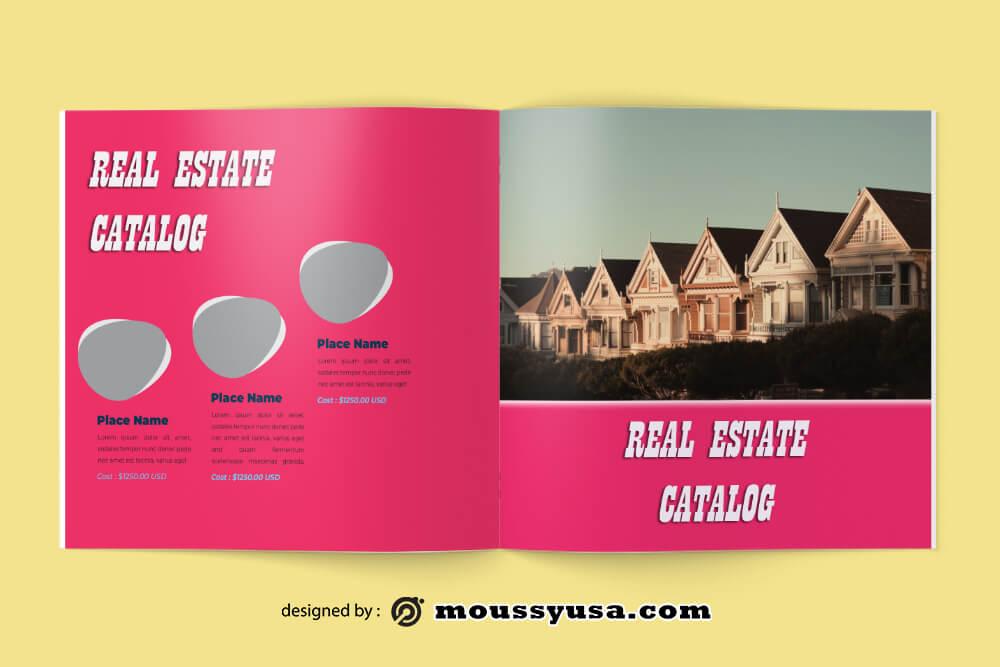 Real Estate Catalog Design templates