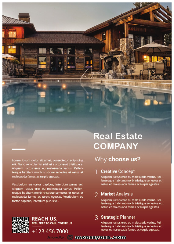Real Estate Flyers customizable psd design template