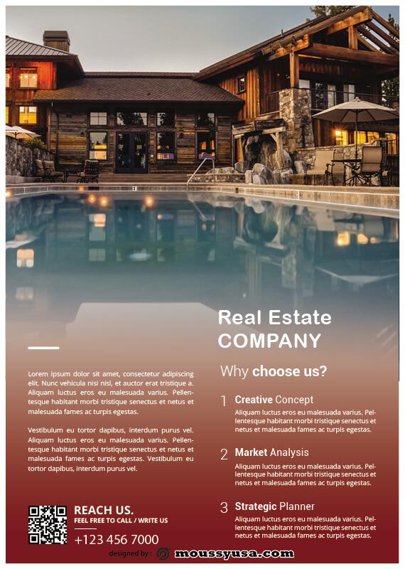 Real Estate Flyers customizable psd design template