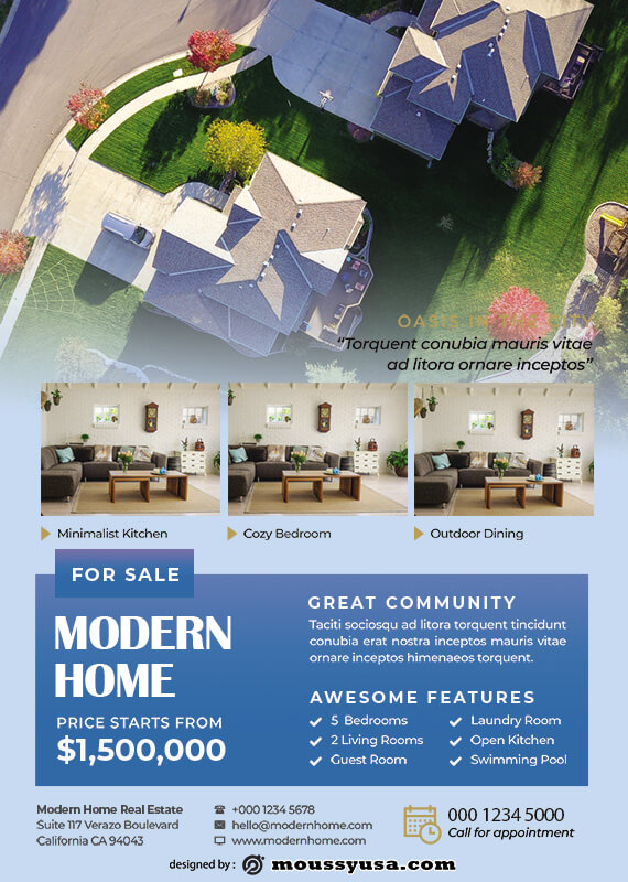 Real Estate Flyers example psd design