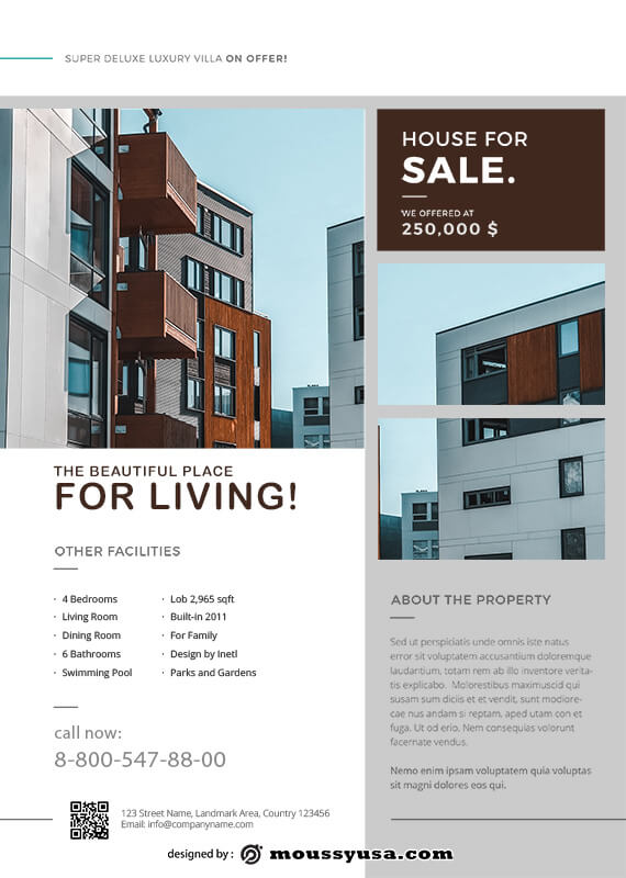 Real Estate Flyers in photoshop free download