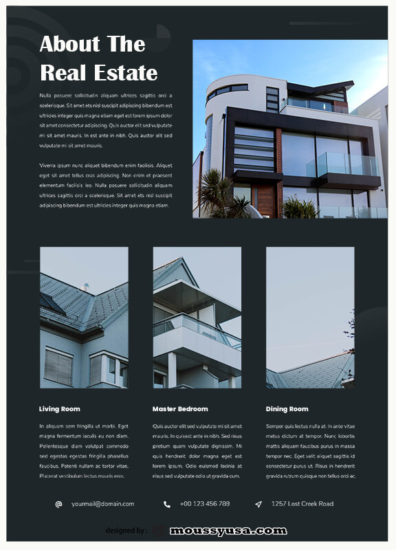 Real Estate Flyers in photoshop