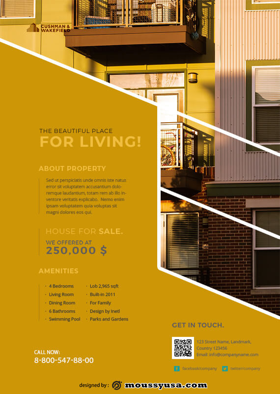 Real Estate Flyers in psd design