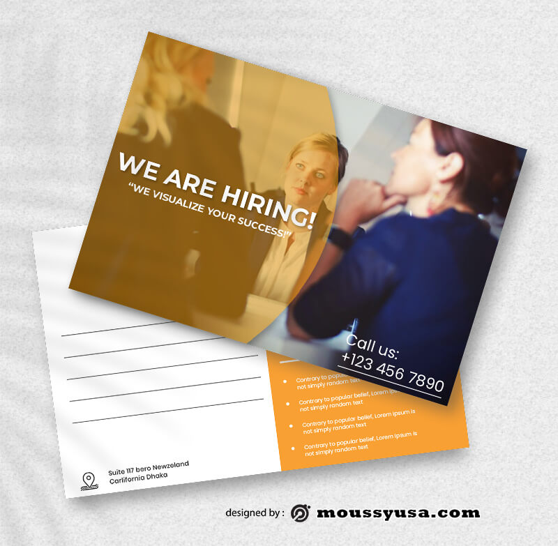 Recruitment Postcard Design templates