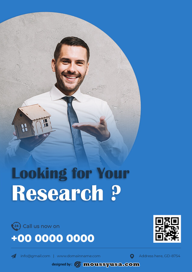 Research Poster free download psd