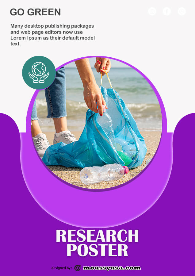 Research Poster free psd template