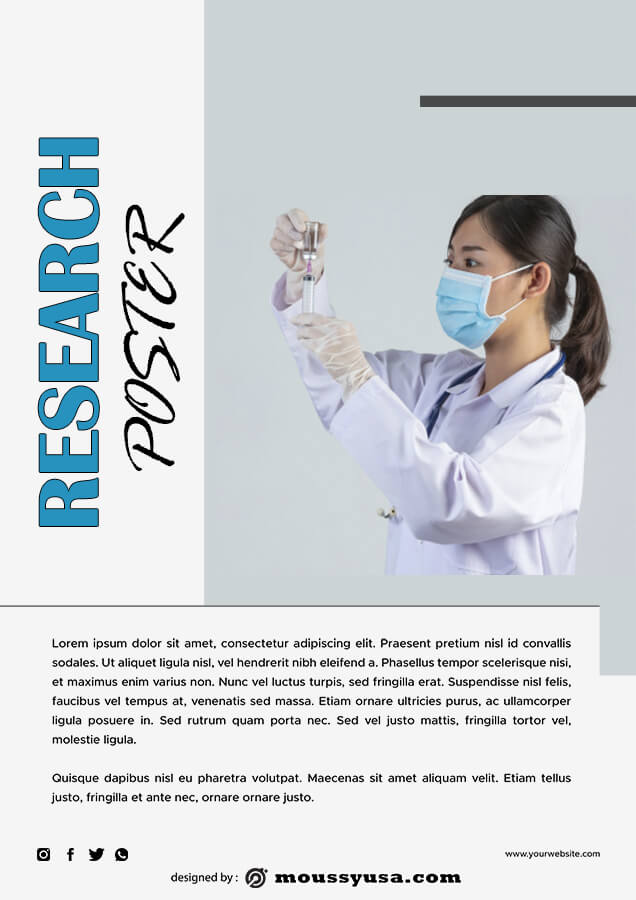 Research Poster in photoshop free download