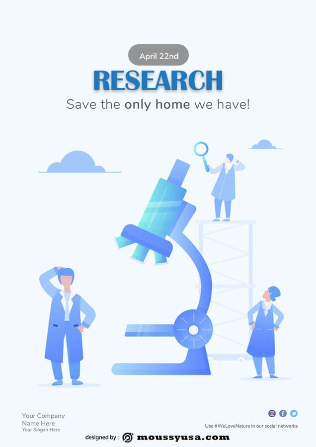 Research Poster in psd design