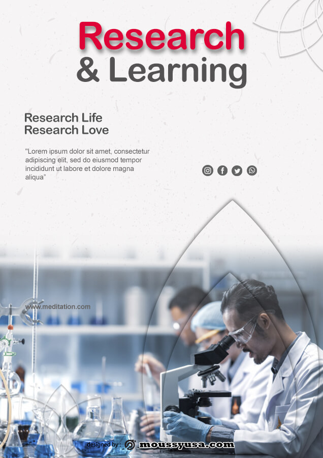 Research Poster psd template free