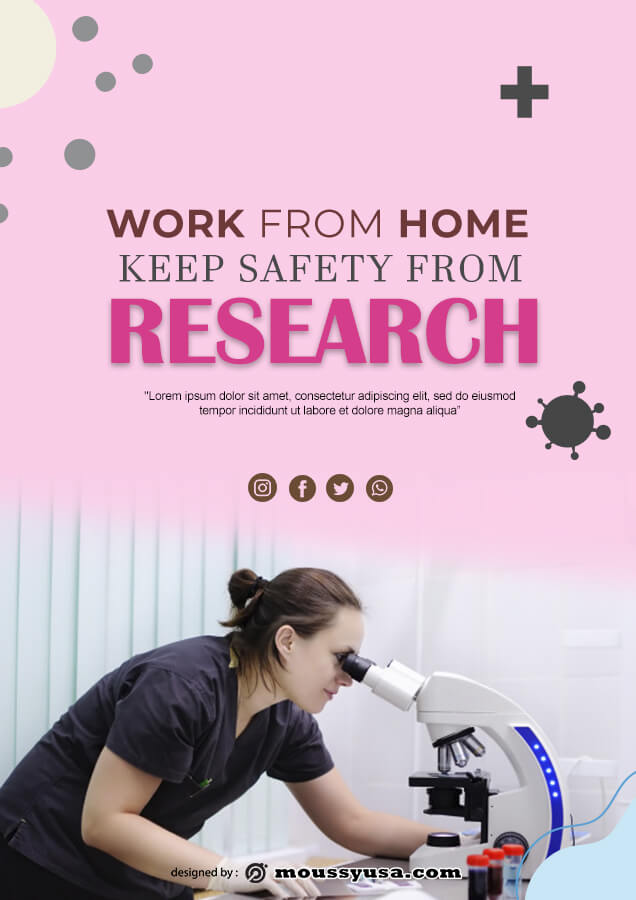 Research Poster template for photoshop