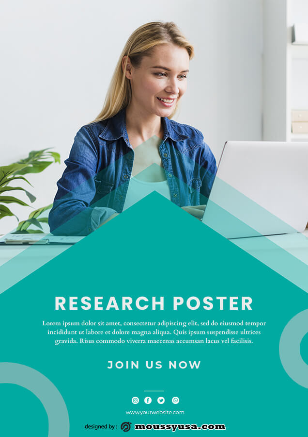 Research Poster template free psd