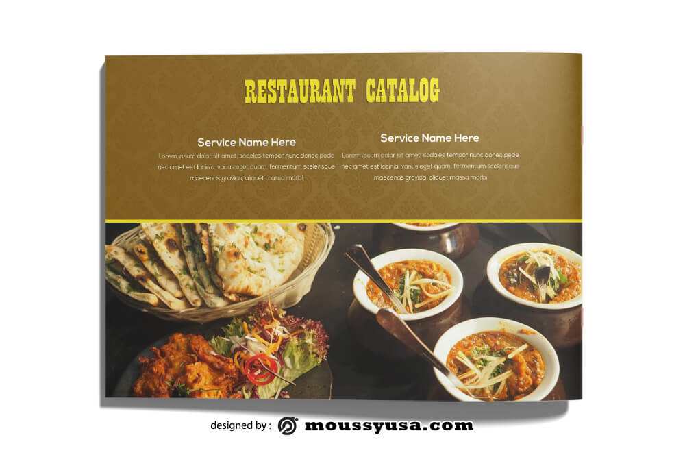 Restaurant Catalog templates Design