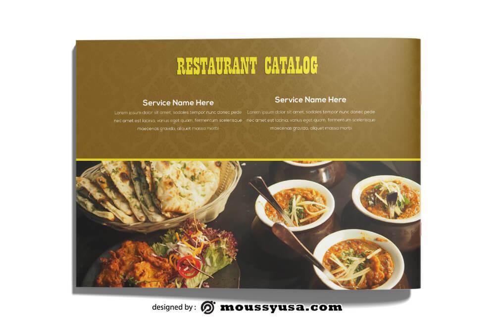 Restaurant Catalog templates Design