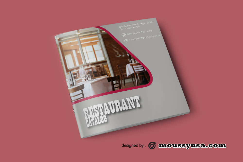 Restaurant Catalog templates Example