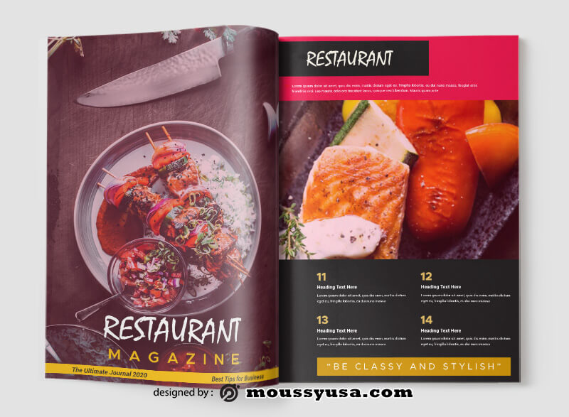 Restaurant Magazine Design Ideas