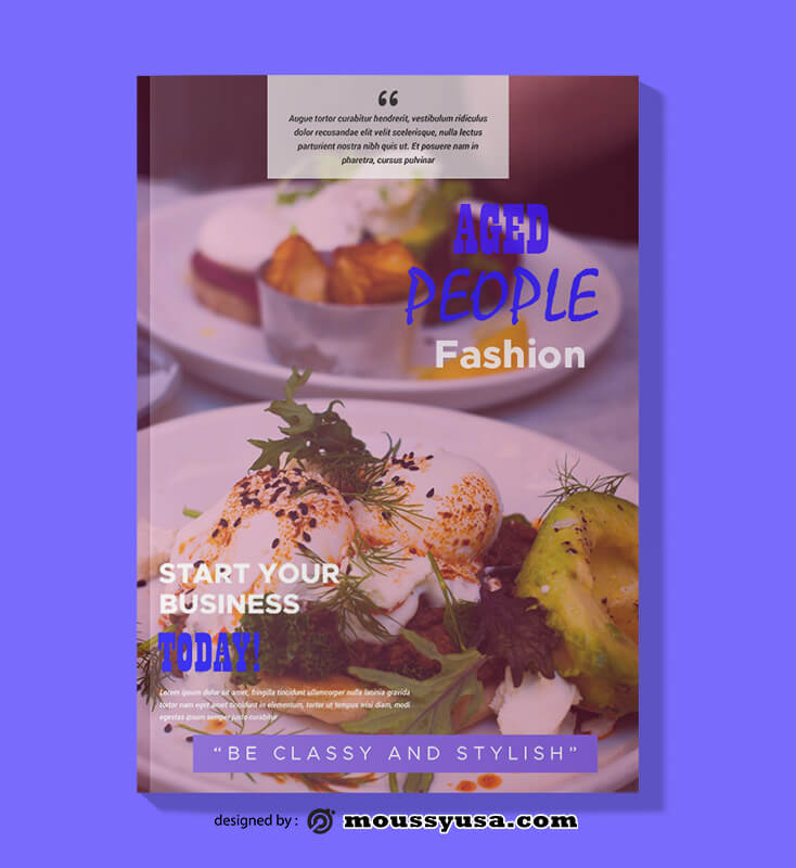 Restaurant Magazine Design templates
