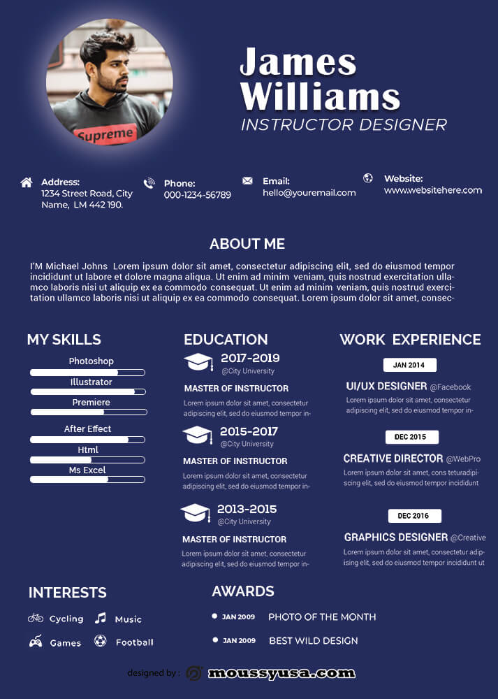 Resume Template in photoshop