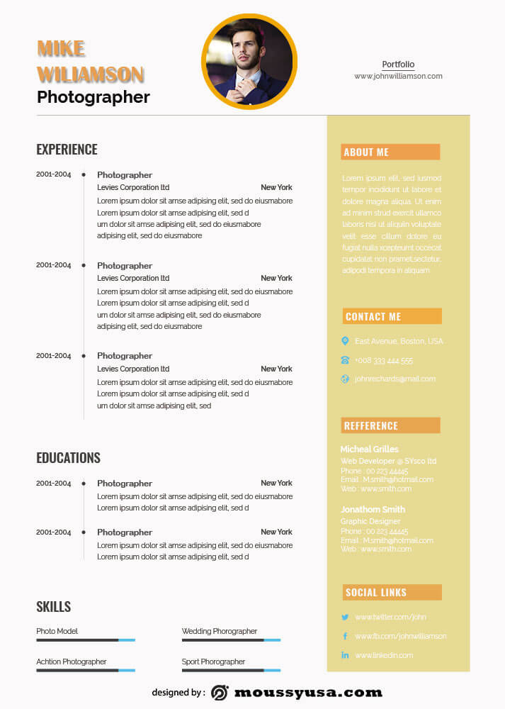 Resume Template in psd design