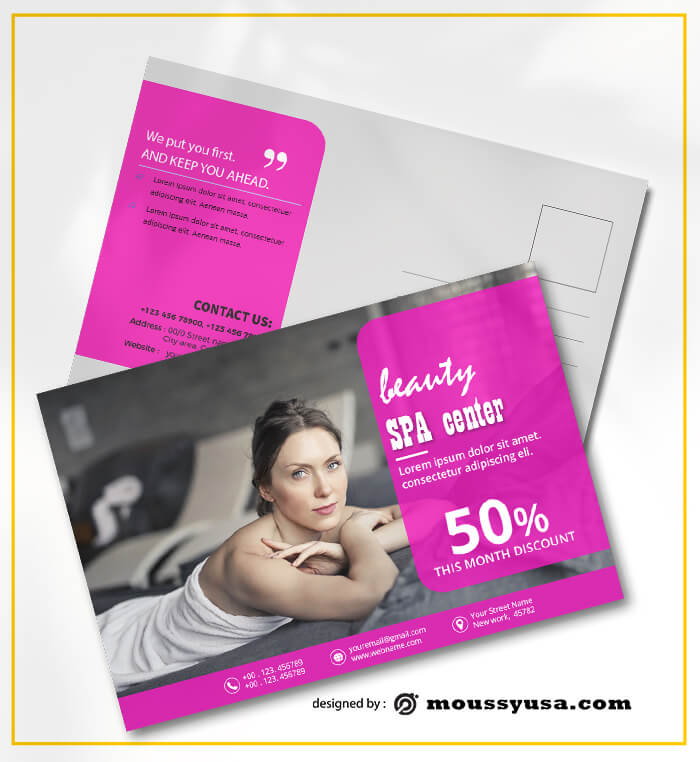 SPA Postcard Design Ideas