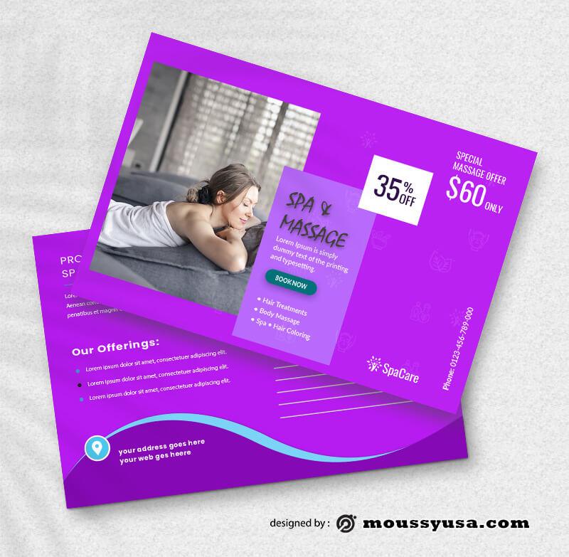 SPA Postcard Design PSD