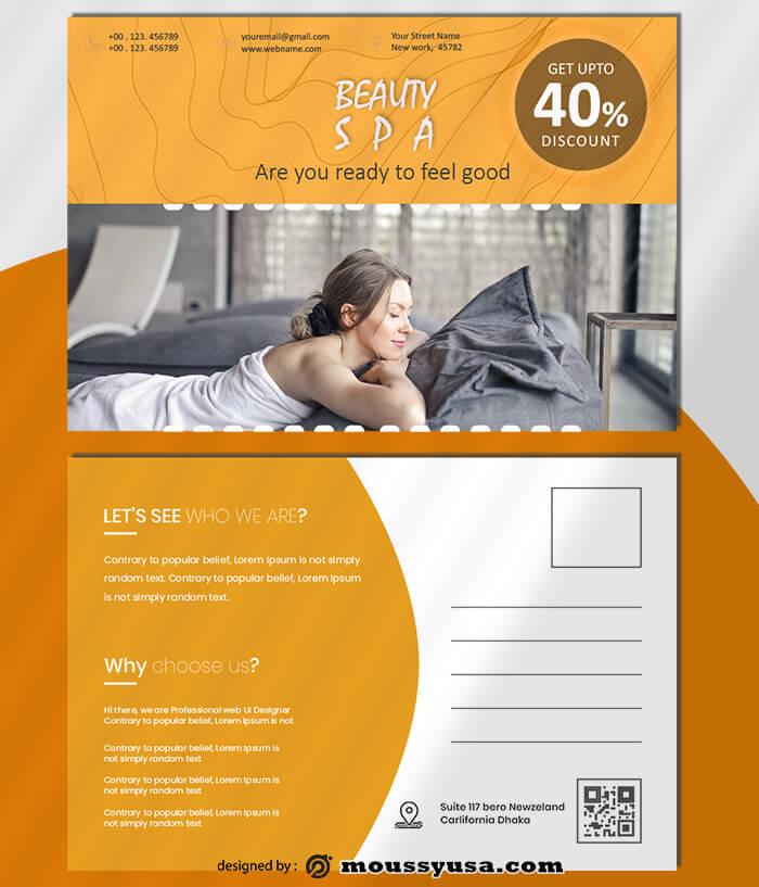 SPA Postcard Design templates