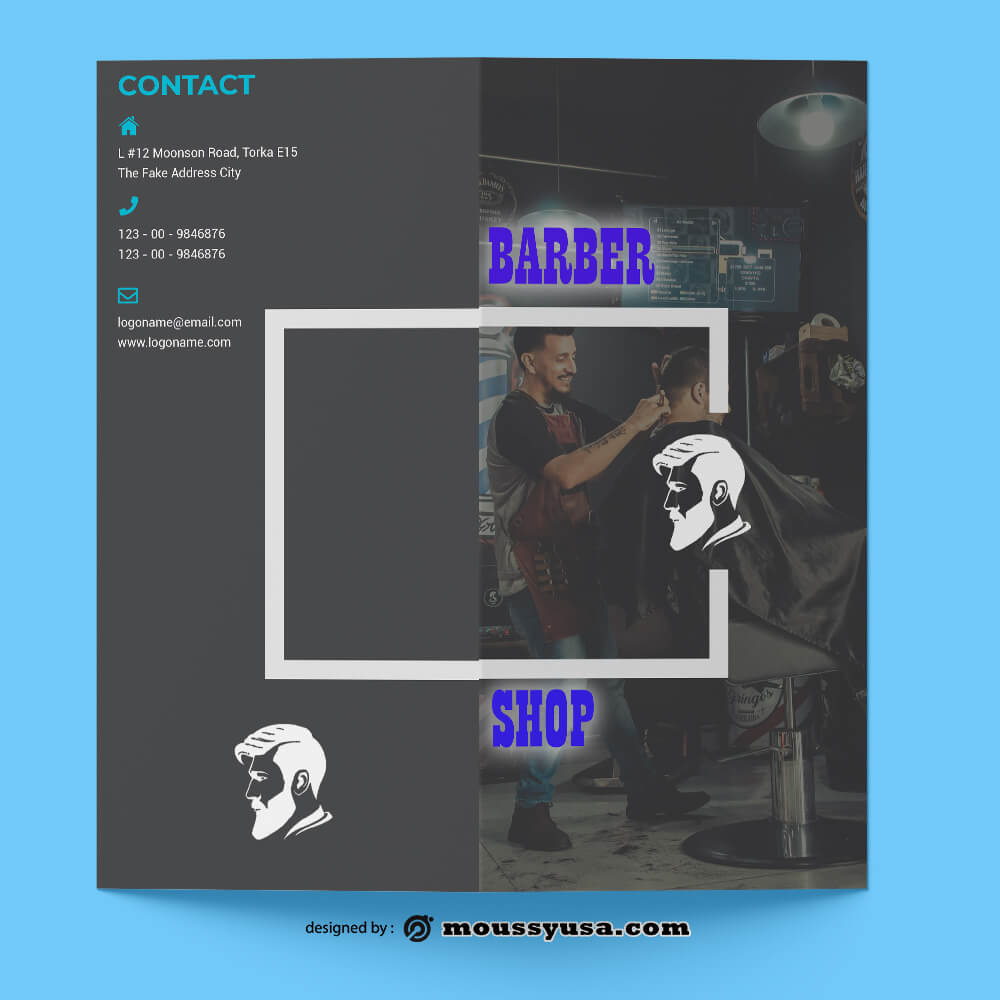 Sample Barbershop Brochure templates