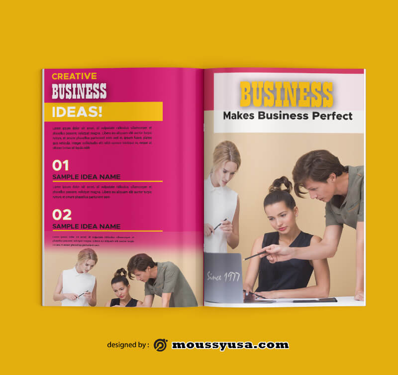 Sample Business Magazine templatess