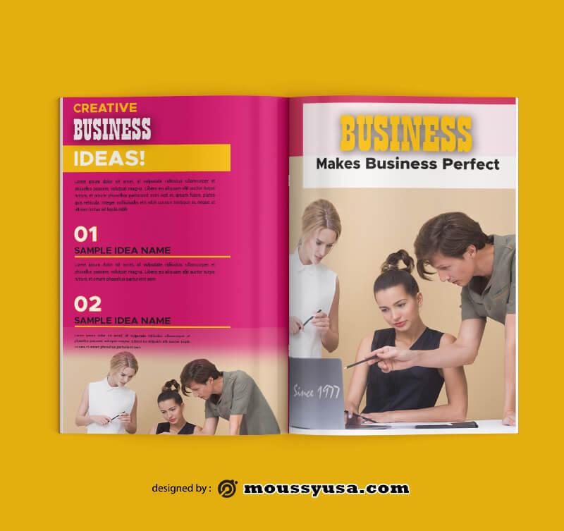 Sample Business Magazine templatess