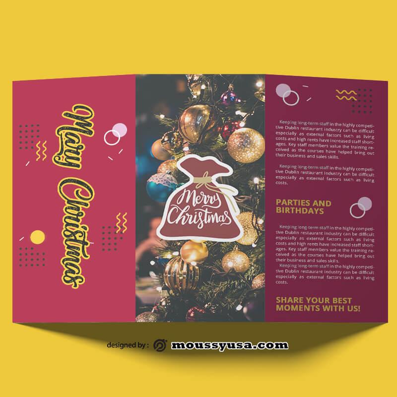 Sample Christmas Brochure templates