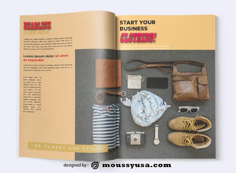 Sample Clothing Magazine templatess