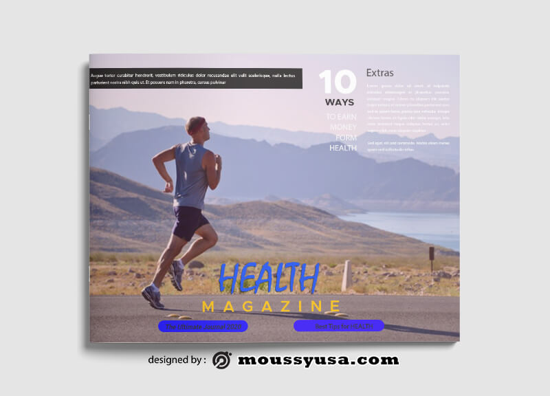 Sample Health Magazine templatess