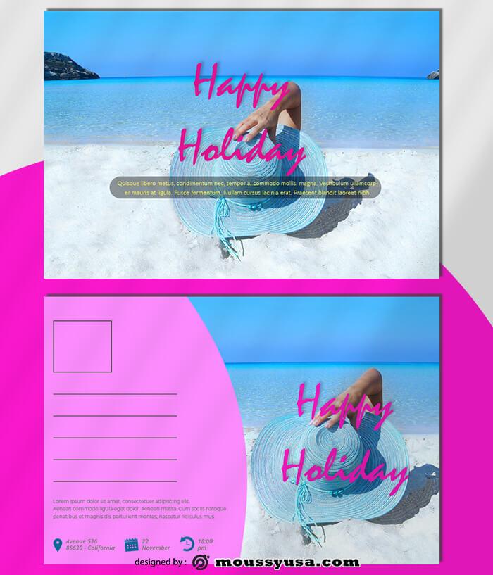 Sample Holiday Postcard templatess