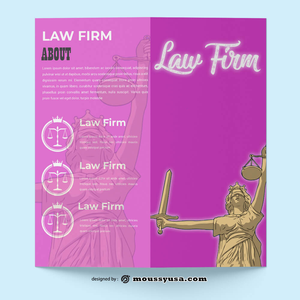 Sample Law Firm Brochure templatess