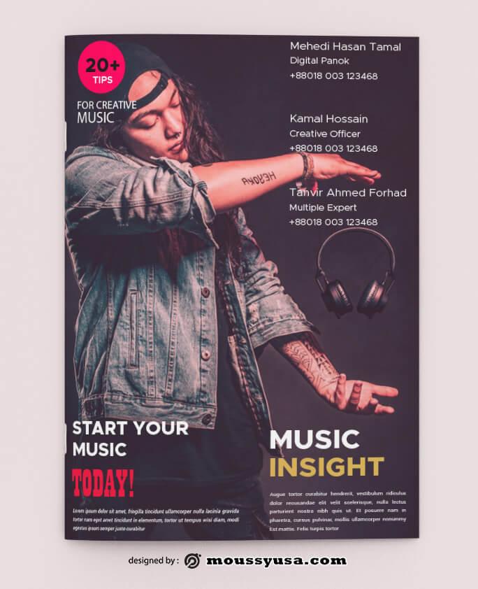 Sample Music Magazine templatess