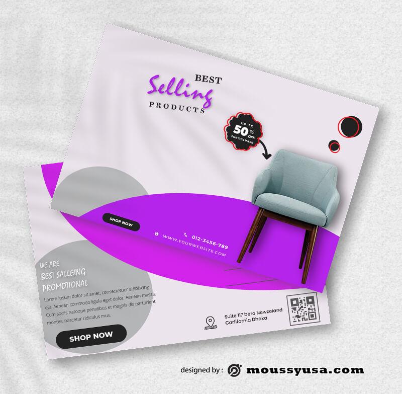 Sample Promotional Postcard templatess