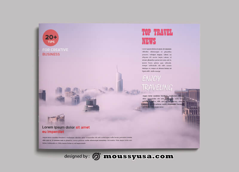 Sample Travel Magazine templatess