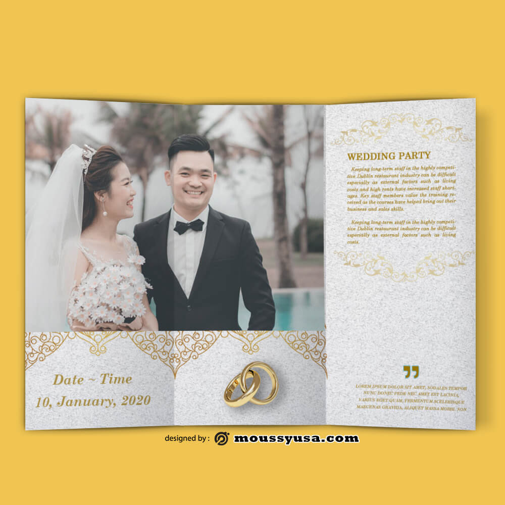 Sample Wedding Planner brochure templates
