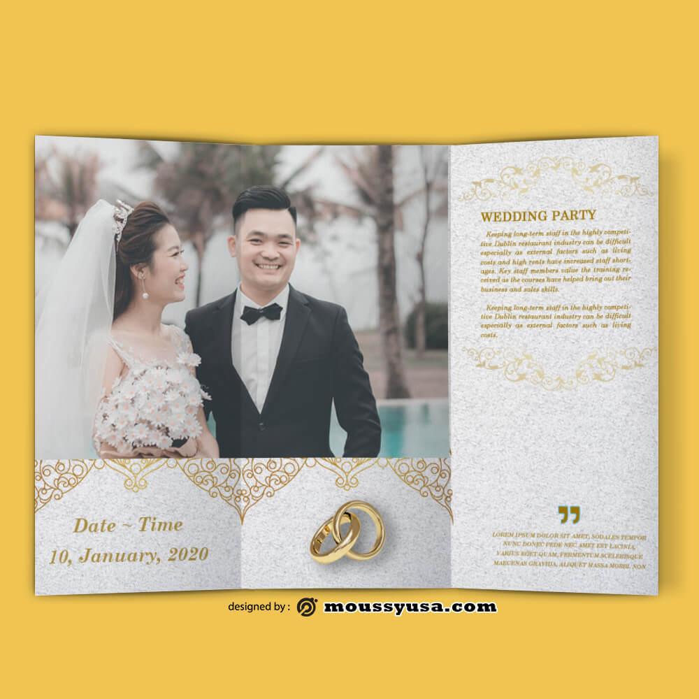 Sample Wedding Planner brochure templates