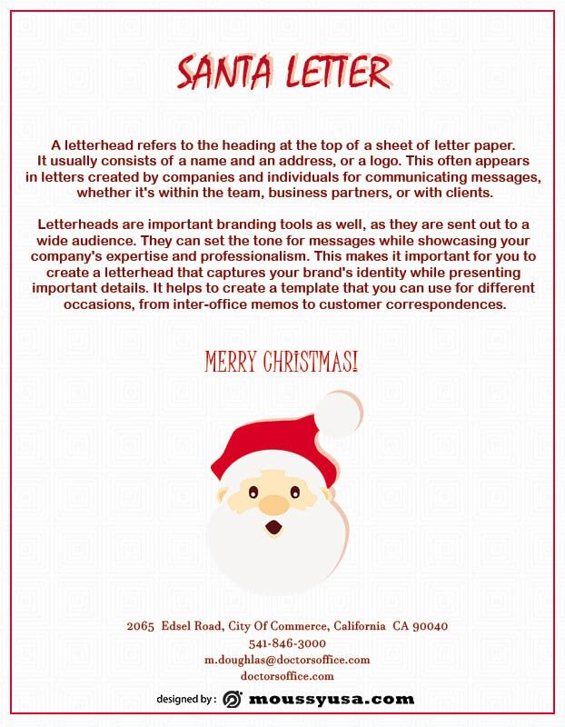 Santa Letter customizable psd design template