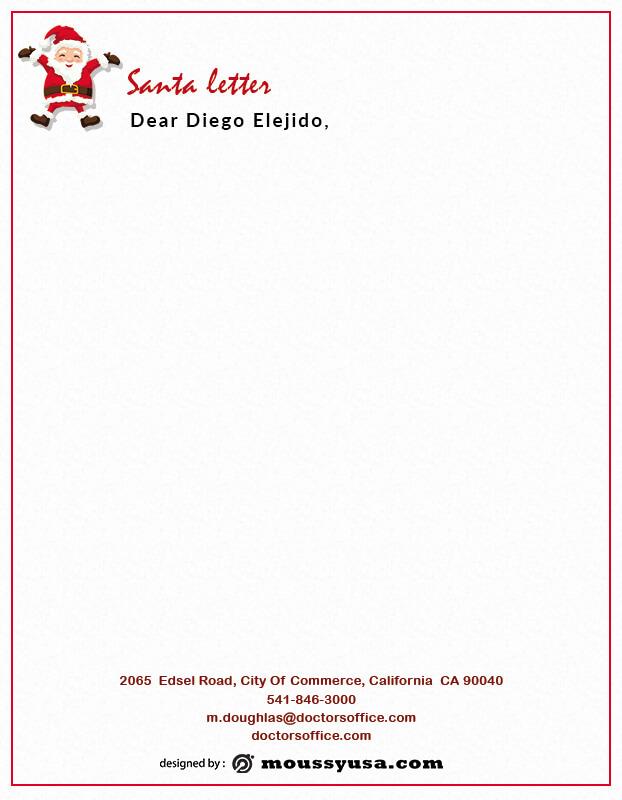 Santa Letter example psd design