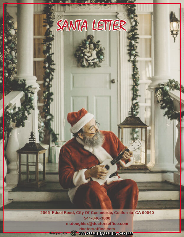 Santa Letter free psd template