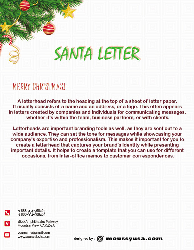Santa Letter in photoshop free download