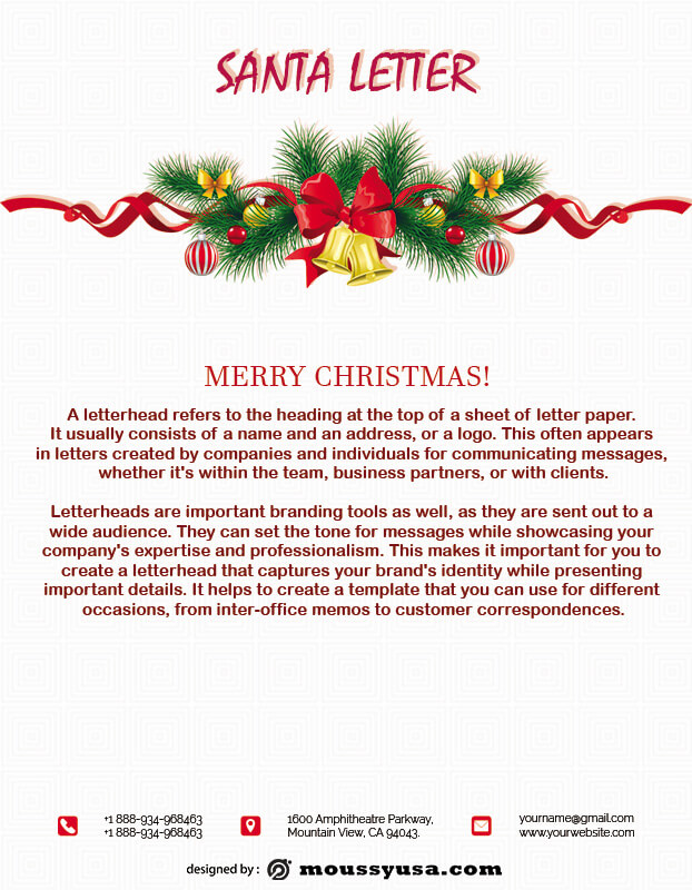 Santa Letter in photoshop