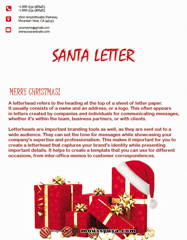 Santa Letter in psd design